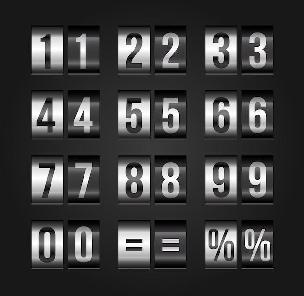 Vector countdown timer en datum.