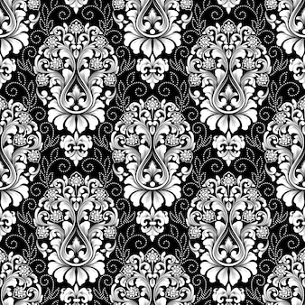 Vector damast naadloos patroon