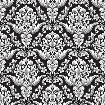 Vector damast naadloze patroon achtergrond. klassieke luxe ouderwetse damast ornament, koninklijke victoriaanse naadloze textuur voor achtergronden, textiel, onmiddellijke verpakking.