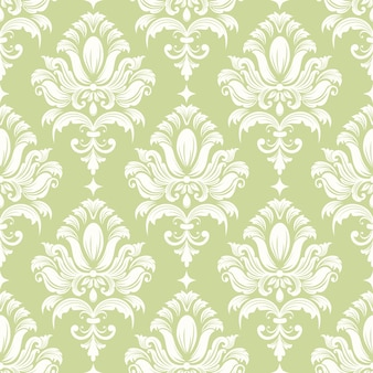 Vector damast naadloze patroon achtergrond. klassieke luxe ouderwetse damast ornament, koninklijke victoriaanse naadloze textuur voor wallpapers, textiel, wrapping. uitstekende bloemen barok sjabloon.