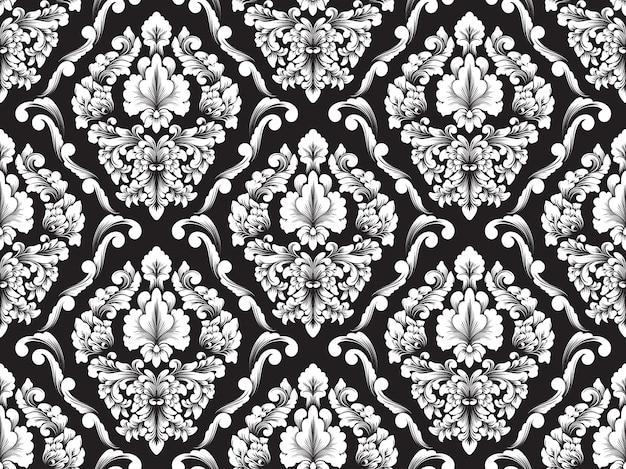 Vector damast naadloze patroon achtergrond.