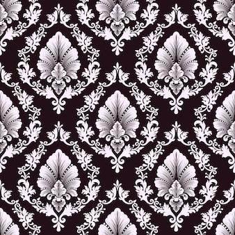Vector damast naadloze patroon achtergrond