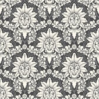 Vector damast naadloze patroon.