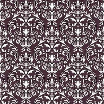 Vector damast naadloze patroon