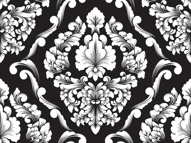Vector damast naadloze patroonelement.