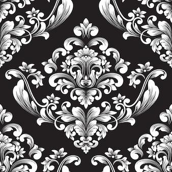 Vector damast naadloze patroonelement