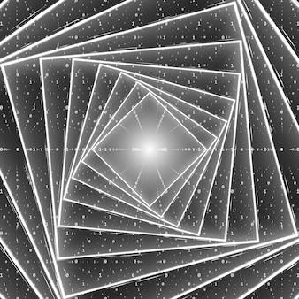 Vector datastroom visualisatie.