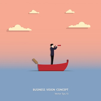 Vector de illustratieontwerp van het bedrijfsvisieconcept