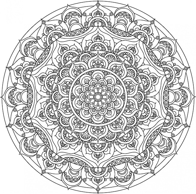 Vector decoratief mandala ornament