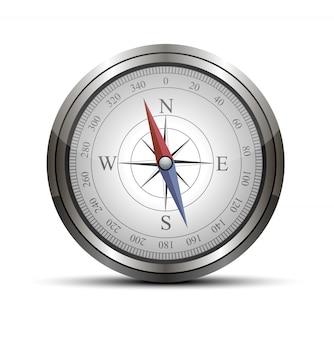 Vector detrailed kompas geïsoleerd op wit.