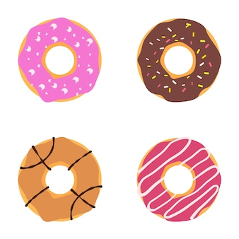Vector donut illustratie
