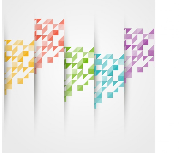 Vector driehoek kleur