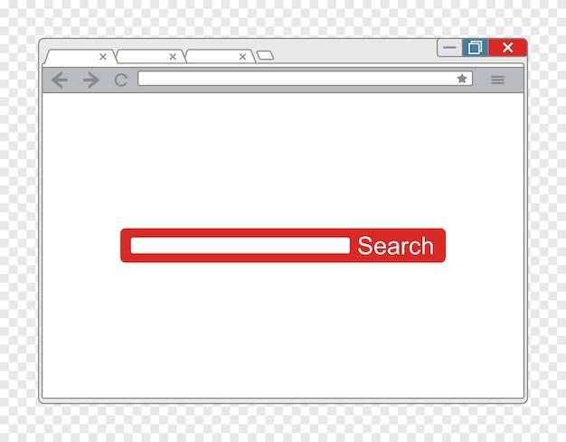 Vector eenvoudig browservenster