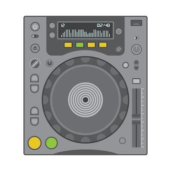 Vector effen kleuren cd-draaitafel