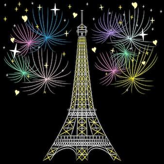 Vector eiffeltoren in parijs