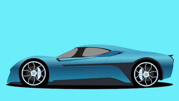 Vector elektrische auto