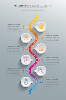 Vector-elementen voor de infographic.