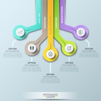 Vector-elementen voor infographic. sjabloon voor diagram
