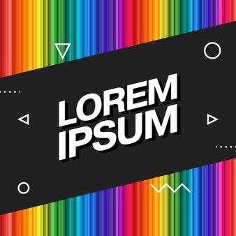 Vector entertainment, zakelijke sjabloon met kop van dekking, rapport, plakkaat. moderne veelkleurige achtergrond. regenboog, futuristisch abstract ontwerp, trendy geometrische vormen.