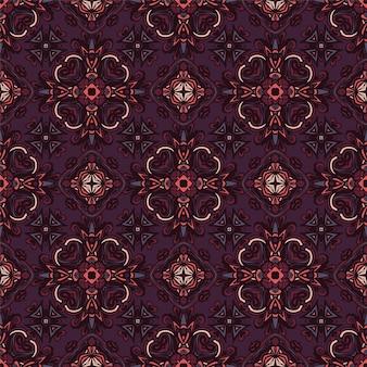 Vector etnische abstracte naadloze vintage patroon achtergrond sier.