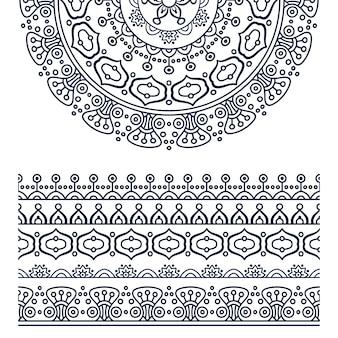 Vector etnische mandala Gratis Vector