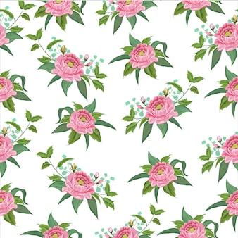 Vector exotisch roze bloemen naadloos patroon