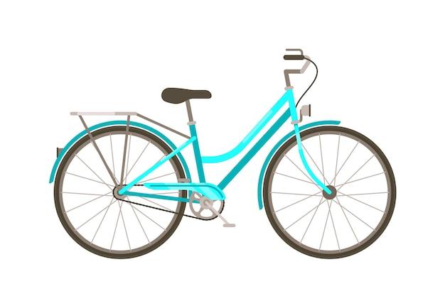 Vector fiets klassiek vervoer geïsoleerd op een witte achtergrond