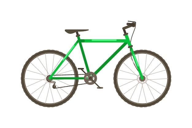 Vector fiets met frame geïsoleerd op een witte achtergrond