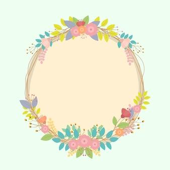 Vector floral frame sjabloon.