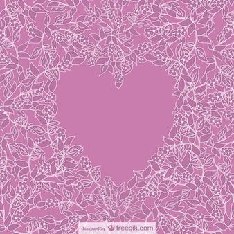 Vector florale hart ontwerp