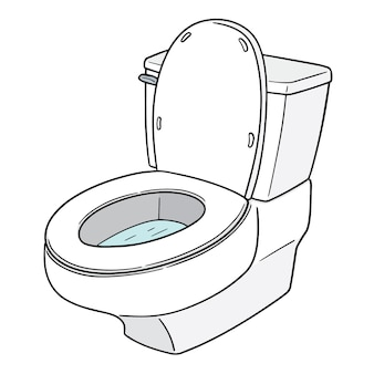Vector flush toilet