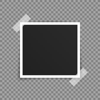 Vector fotolijst mockup ontwerp.