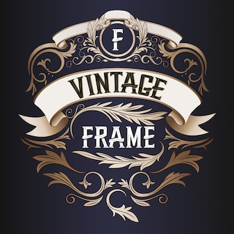 Vector frame - vintage tekstdecoratie. monogram