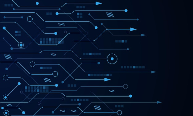 Vector futuristische technologie achtergrond elektronische moederbord communicatie en engineering concept