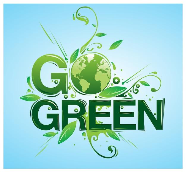 Vector ga groene poster illustratie
