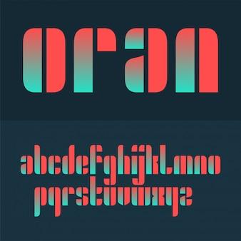 Vector gecondenseerd origineel vet lettertypeontwerp