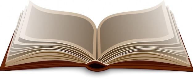 Vector geïsoleerd boek.