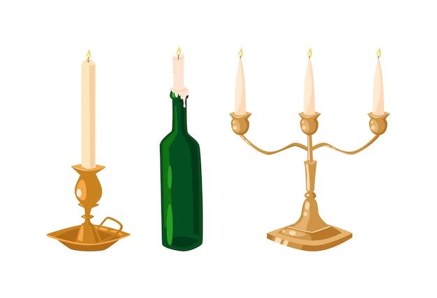 Vector geïsoleerde kaarsen