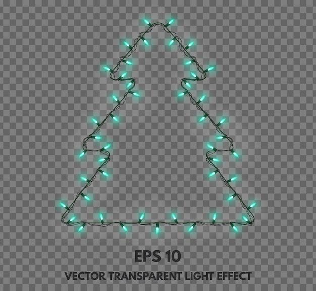Vector geïsoleerde slinger decoraties in de vorm van kerstbomen