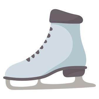 Vector geïsoleerde winter doodle illustratie van een vrouwelijke schaats.