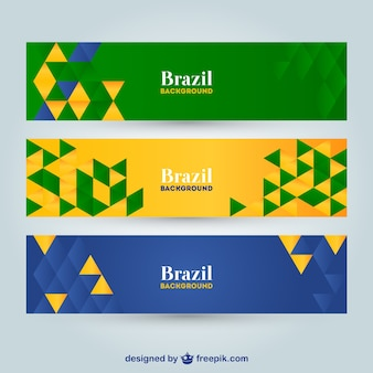 Vector geometrische brazilië banners