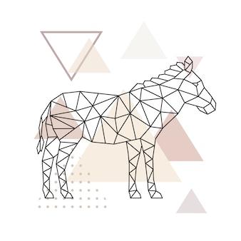 Vector geometrische zebra.