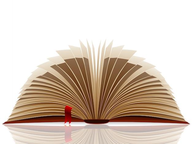 Vector geopend boek.