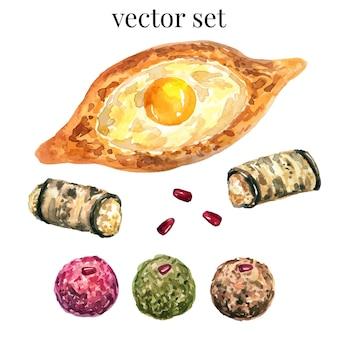 Vector georgisch eten.