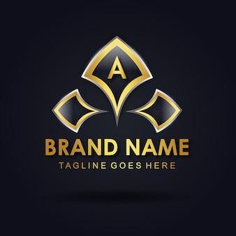 Vector geweldige alfabet logo ontwerpen