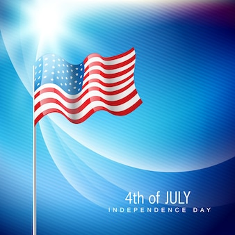 Vector glanzende amerikaanse vlag illustraton