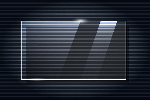 Vector glaskader. glas realistische illustratie