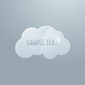 Vector glazen wolk, element voor uw ontwerp