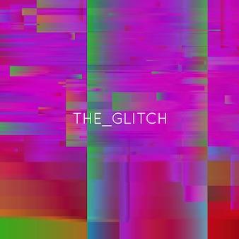 Vector glitch achtergrond. vervorming van digitale beeldgegevens. chaos-esthetiek van signaalfout. digitaal verval.