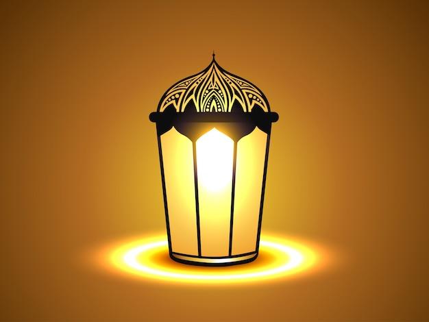 Vector gloeiende lamp ontwerp illustratie